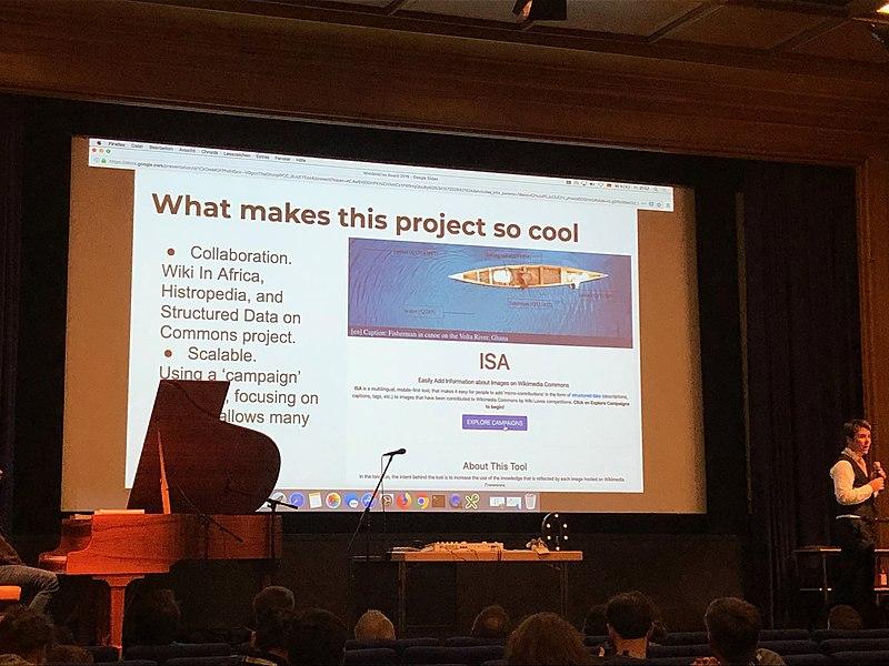 800px-ISA_Tool_wins_WikidataCon_2019_Award_in_Multimedia_category_03