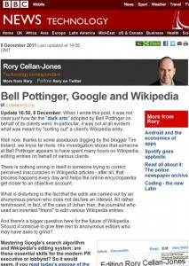 Bell Pottinger sur BBC, déc. 2011